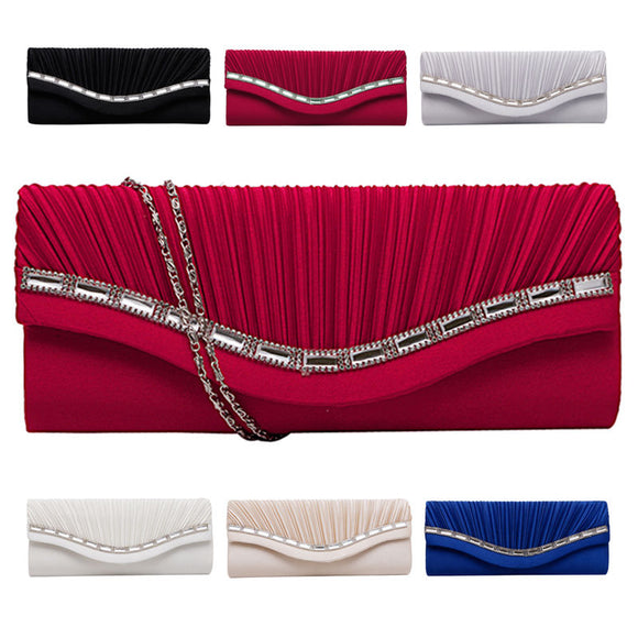 Fashion Women Rhinestone Handbag Evening Party Clutch Bag Wedding Wallet Purse