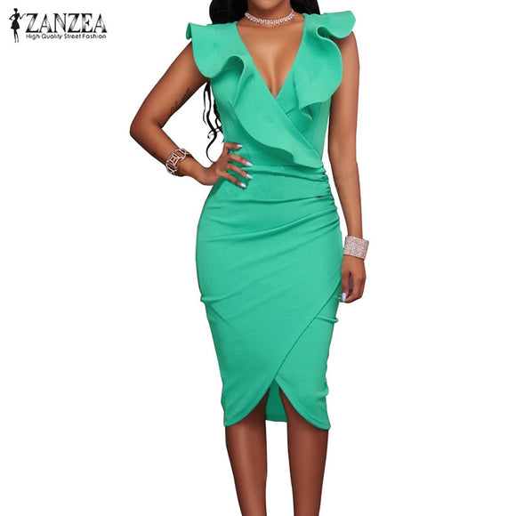 Women Summer Dress Sexy Sleeveless V Neck  Party Dresses. Free Shipping