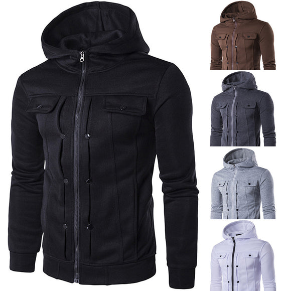 Free Shipping. Fashion men designed with hooded top cardigan