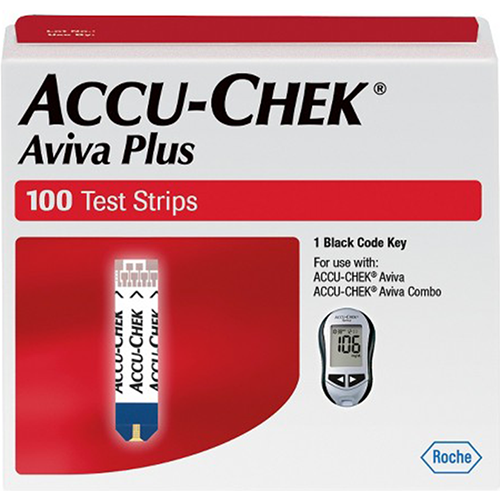 Accu-Chek Aviva Plus Test Strips - 100 Count