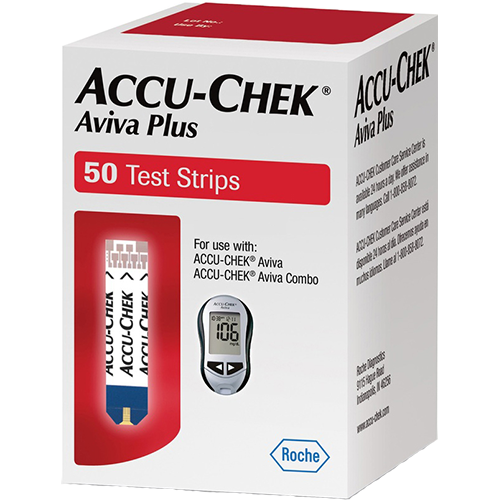 Accu-Chek Aviva Plus Test Strips - 50 Count