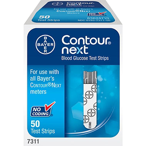 Bayer Contour NEXT Test Strips - 50 Count