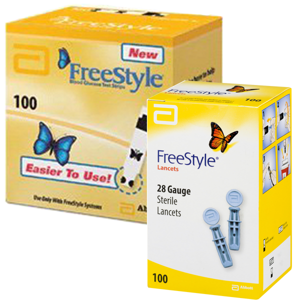 Freestyle Test Strips (100 Ct.) + Freestyle Lancets (100 Ct.)