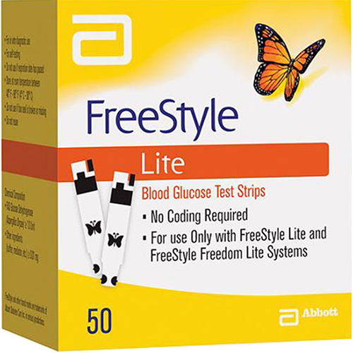 Freestyle LITE Test Strips - 50 Count