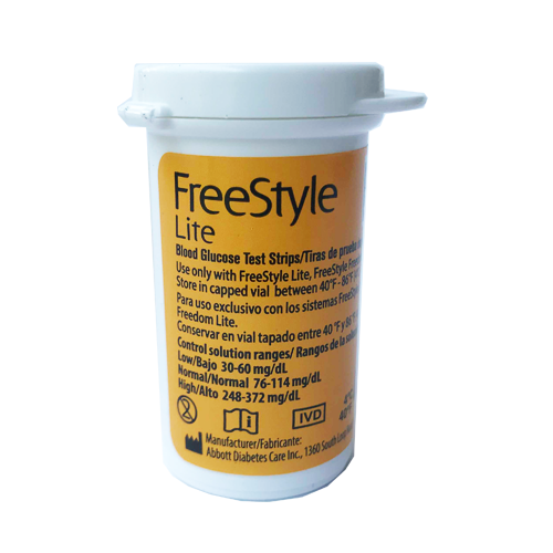 Freestyle LITE Test Strips VIAL
