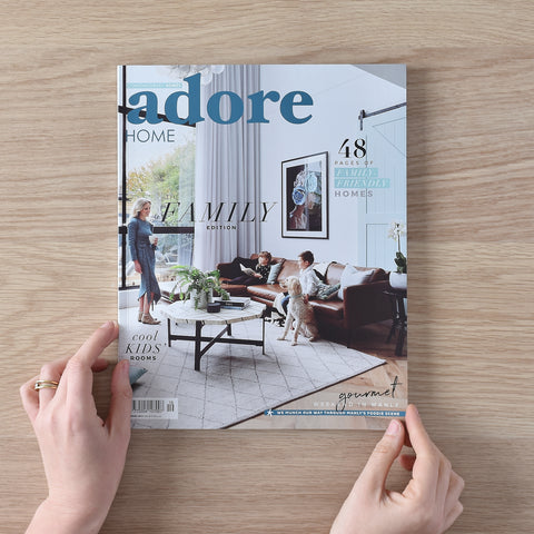 Adore magazine cover featuring TileCloud