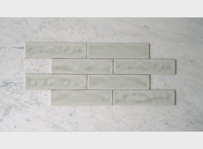 Newport Gloss Subway Sage Green Tile