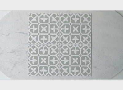 Palm Beach Green Encaustic Look Tile