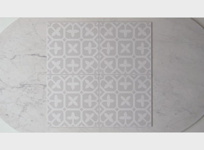 Palm Beach Grey Encaustic Look Tile