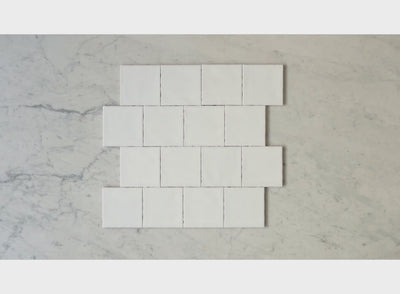 Newport Gloss White Small Square Tile