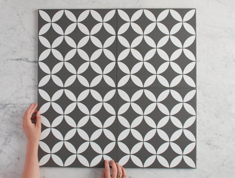 Avoca Black Encaustic Look Tile