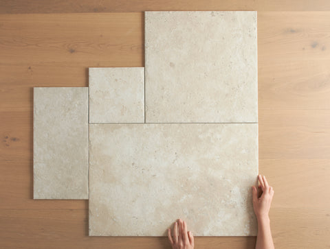 Annangrove French Pattern Ivory Travertine Look Tile