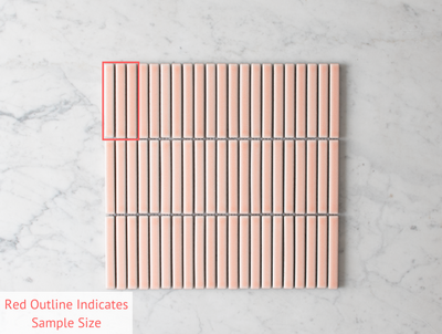 Coogee Antique Pink Kit Kat Mosaic tile