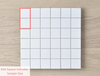 Haddon White Matt Medium Square Tile