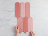 Fitzroy Gloss Mixed Pink Feather Tile