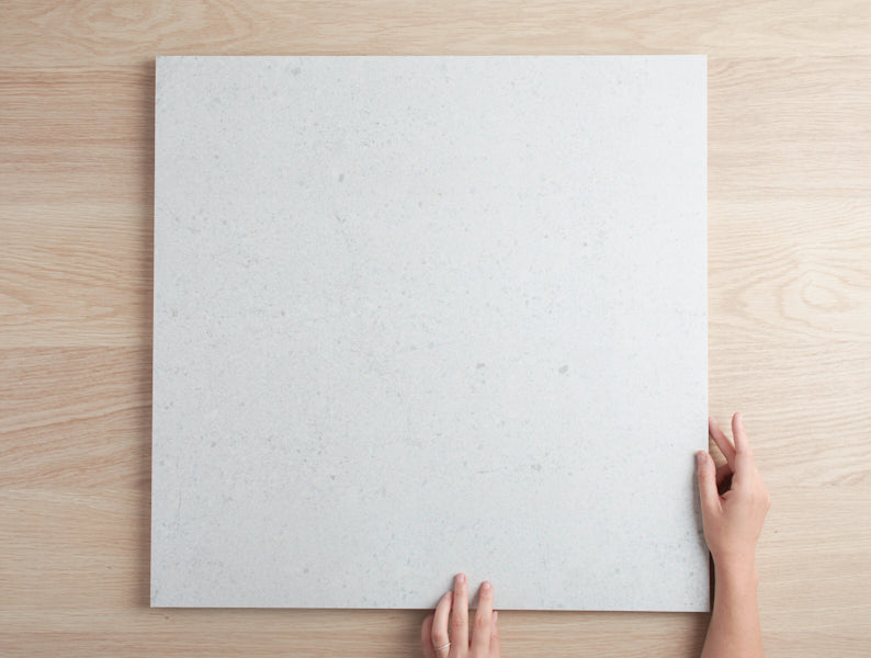 Hamilton Matt White Concrete Look Tile