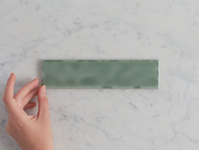 Newport Gloss Mini Subway Jade Green Tile