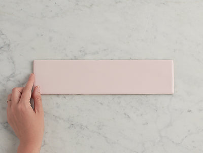 Newport Gloss Subway Baby Pink Tile