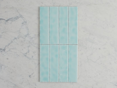 Newport Gloss Mini Subway Duck Egg Blue Tile