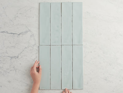 Newport Gloss Subway Sky Blue Tile