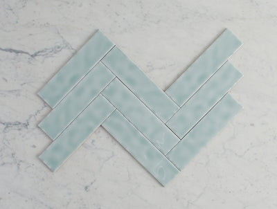 Newport Gloss Mini Subway Sky Blue Tile