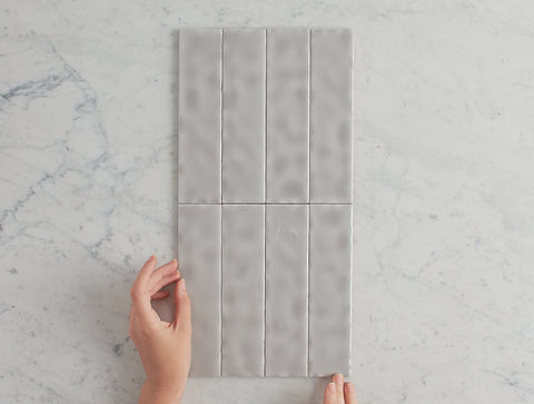 Newport Gloss Mini Subway Grey Tile