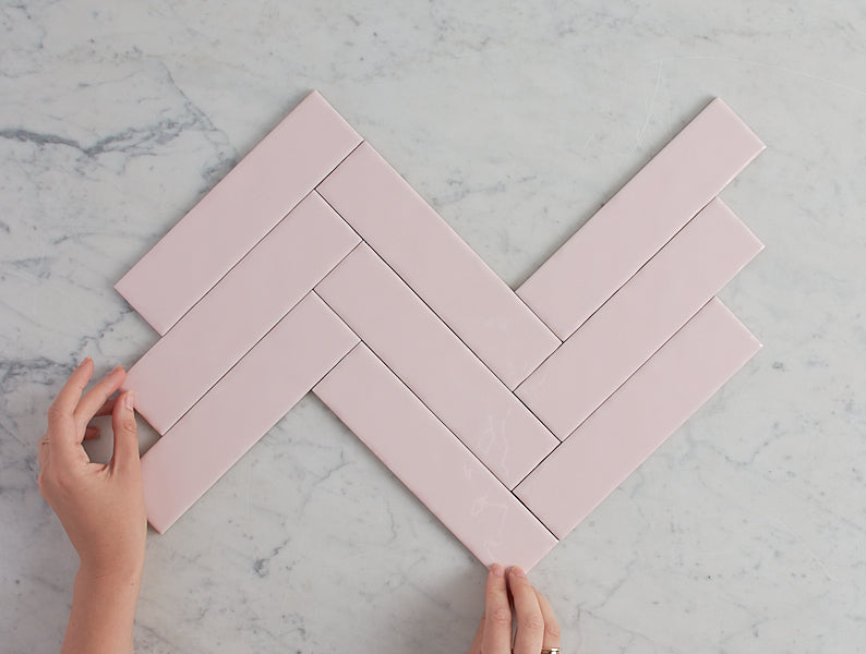 Newport Gloss Mini Subway Baby Pink Tile