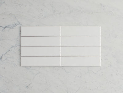 Newport Matt Mini Subway White Tile