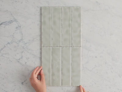 Newport Gloss Mini Subway Sage Green Tile