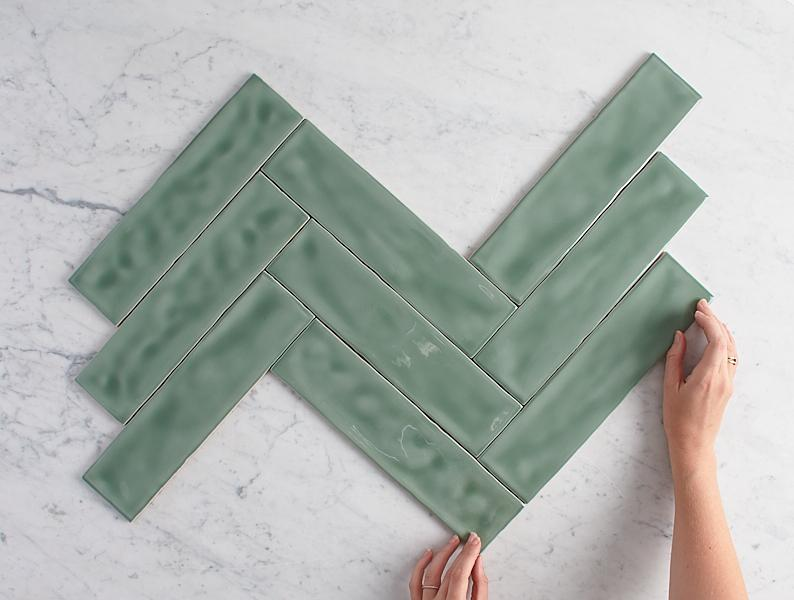 Newport Gloss Subway Jade Green Sample