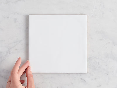 Newport Gloss Large Square White Tile