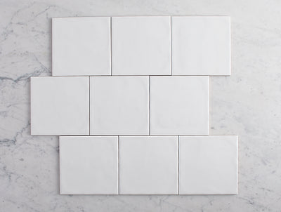 Newport Matt Large Square White Tile