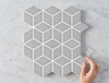 Oakley Cube Grey Gloss Mosaic Tile