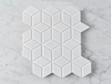 Oakley Cube White Gloss Mosaic Tile
