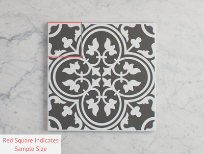 Dural Black Encaustic Look Tile
