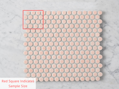 Broadwater Pink Gloss Penny Round Mosaic Tile