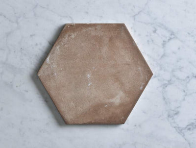 Boat Harbour Beach Terracotta Encaustic Look Hexagon Tile