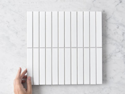 Brunswick Kit Kat Matt White Tile