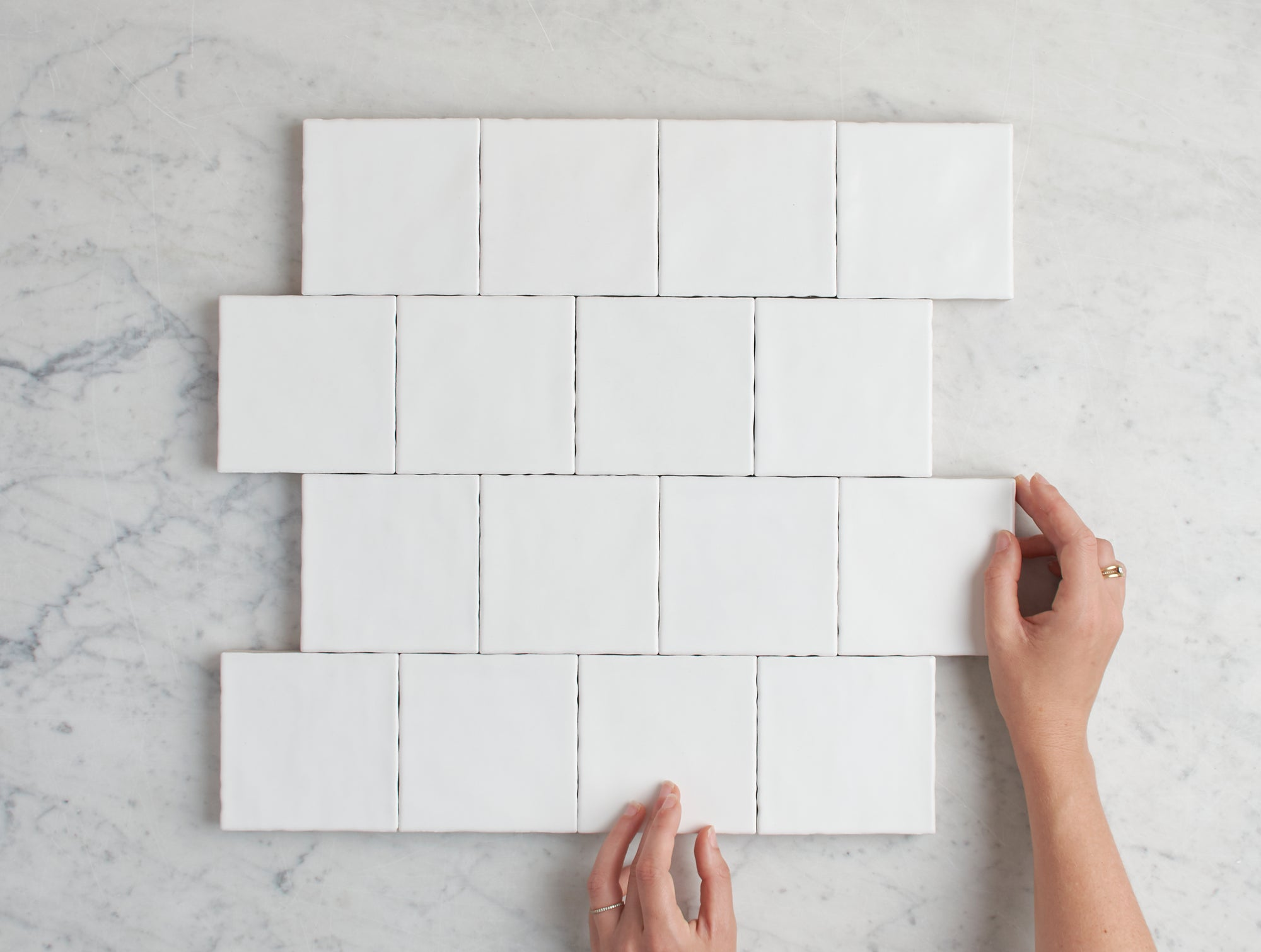 Newport Matt White Small Square Tile