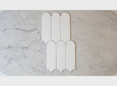 Fitzroy Gloss White Feather Tile