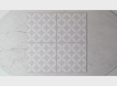 Avoca Grey Encaustic Look Tile