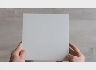Silver Beach White Encaustic Look Square Tile