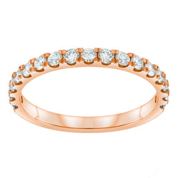 Jessica Jewellery rose gold pavé-set diamond ring.