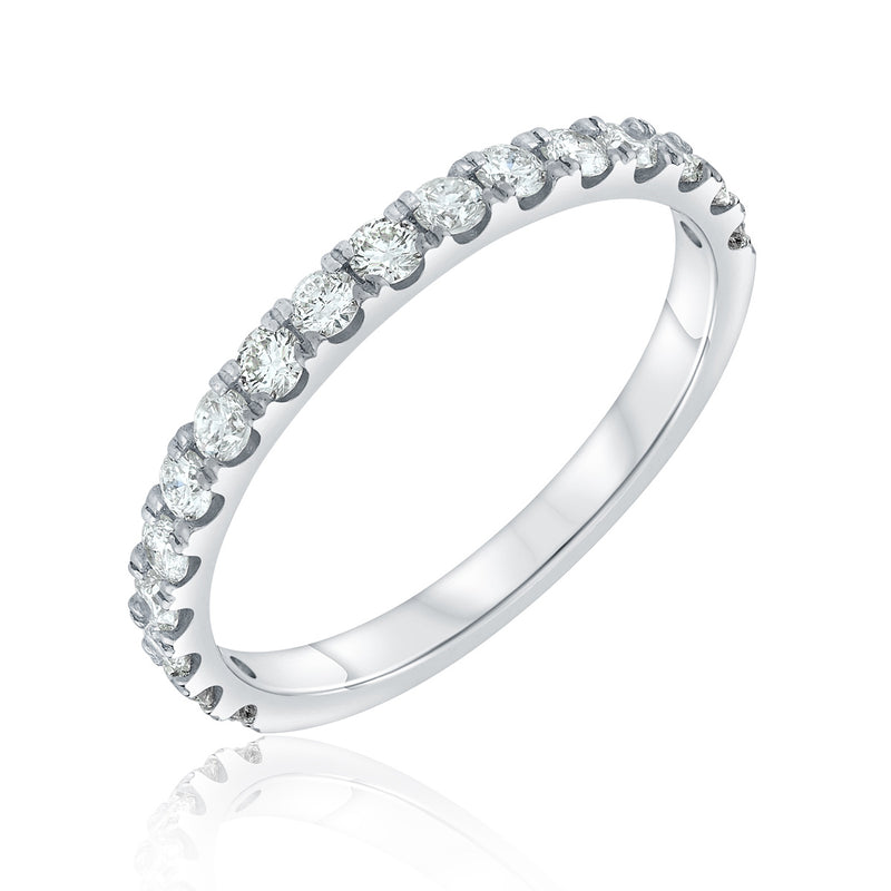 Jessica Jewellery white gold pavé-set diamond ring.