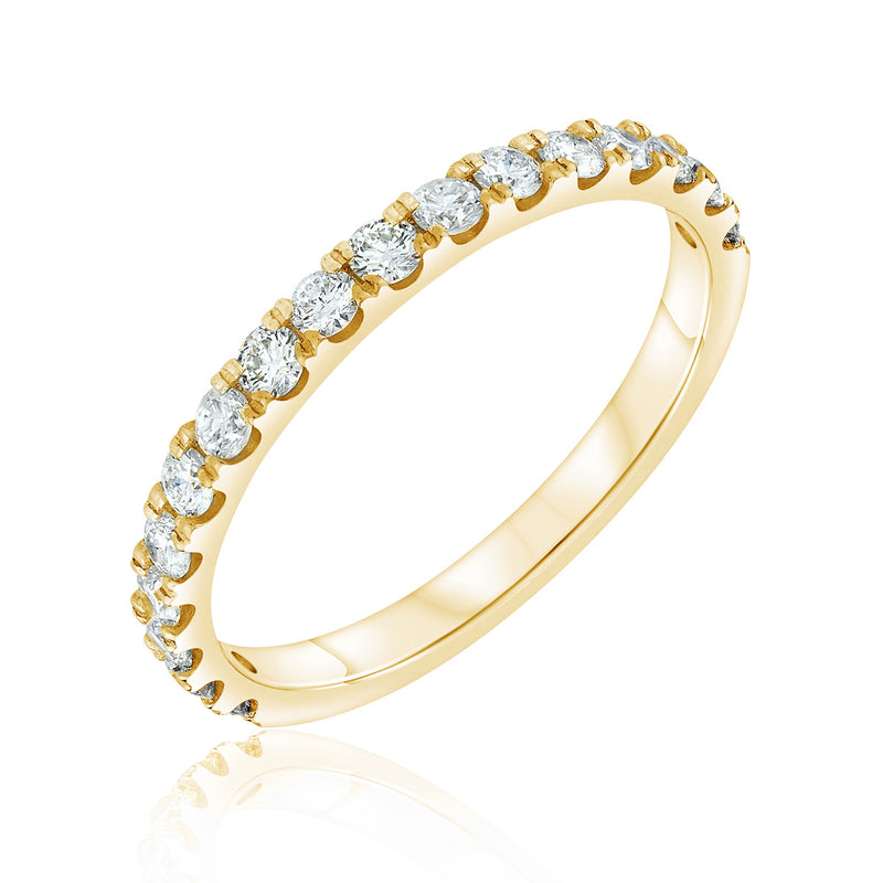Jessica Jewellery yellow gold pavé-set diamond ring.