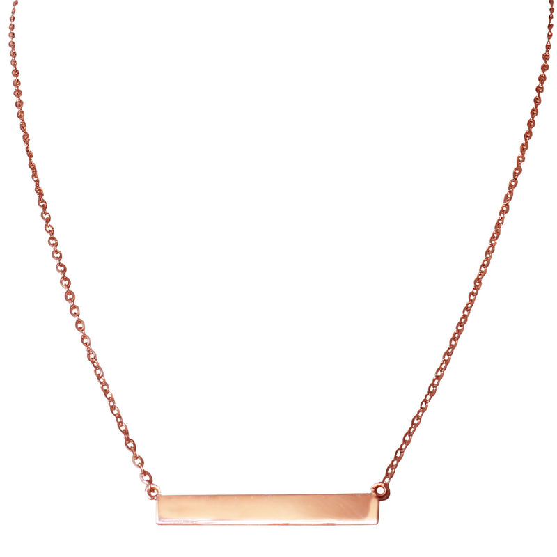 Rose gold bar necklace by Jessica Jewellery.