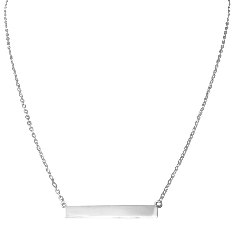 White gold bar necklace by Jessica Jewellery.
