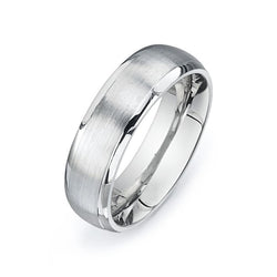 Brushed Round Wedding Band