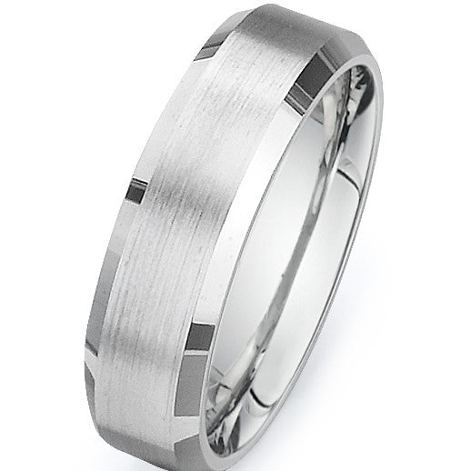 Brushed Flat Wedding Band