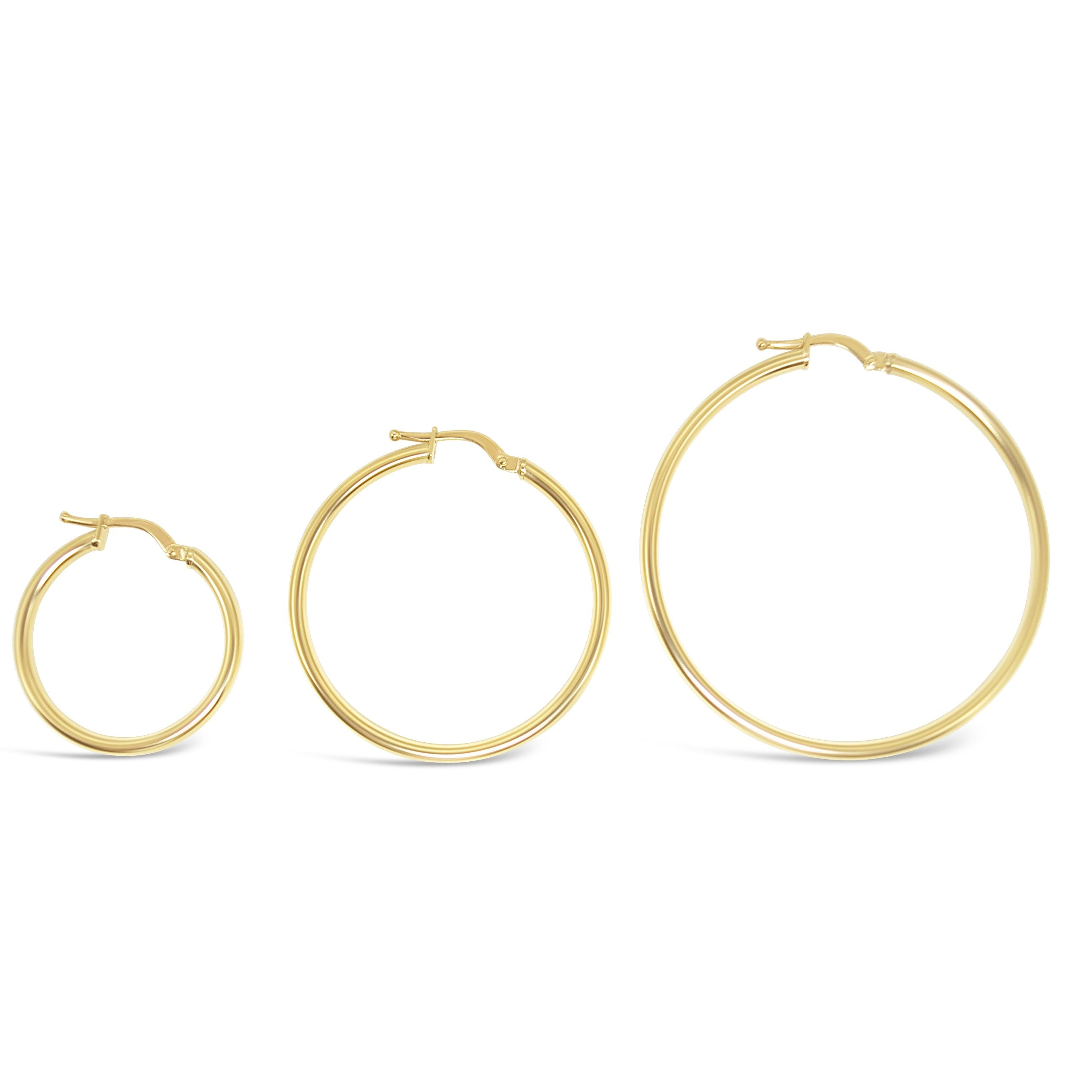 2mm Gold Tube Hoops